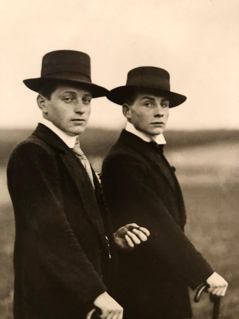 Young Farmers on the Way to a Dance by August Sander For Sale 1