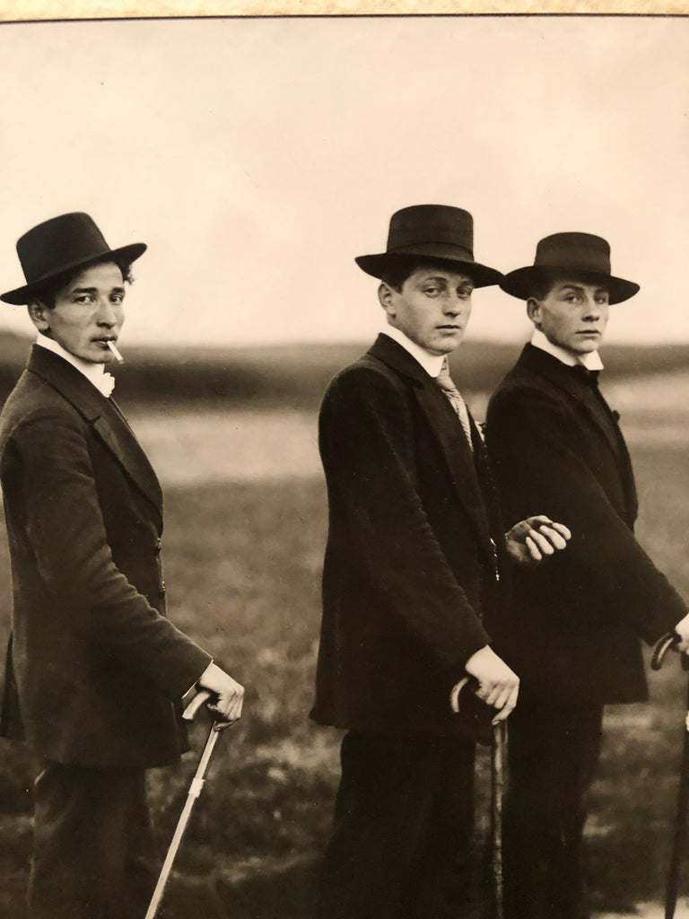 Young Farmers on the Way to a Dance by August Sander For Sale 2