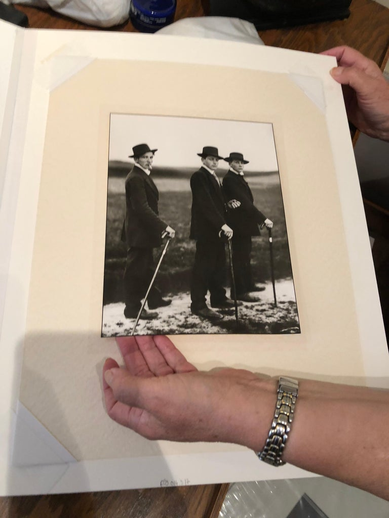 Young Farmers on the Way to a Dance by August Sander For Sale 4