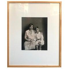 August Sander Silver Gelatin Photographic Print Mother and Son (Mutter Und Sohn)