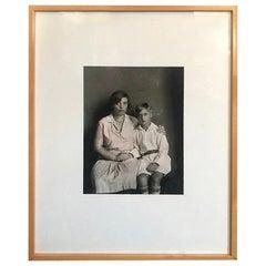 August Sander Silver Gelatin Photographic Print Mother and Son 'Mutter Und Sohn'