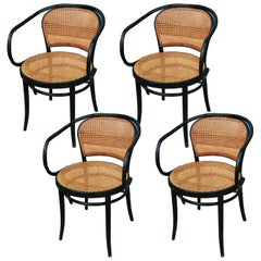 August Thonet B9 Bentwood Chairs Set of 4, Czech Republic