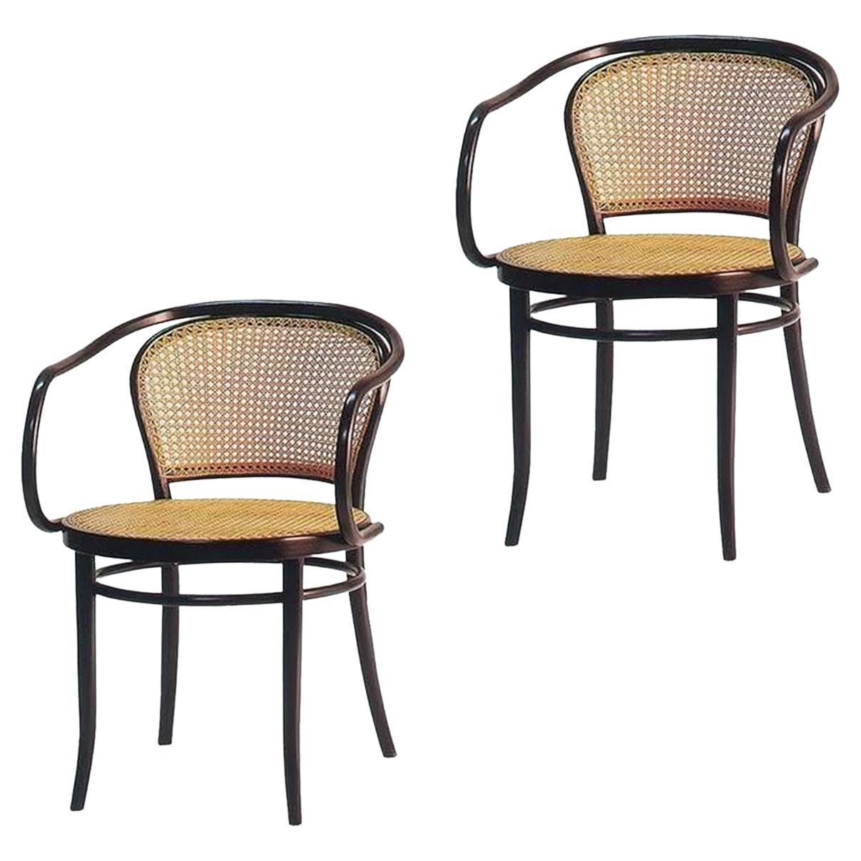 August Thonet Chairs 33 B9 Set of 2, Czech Republic, Early 20th Century