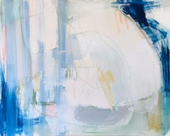Mood, Augusta Wilson Large Abstract Oil on Canvas Painting