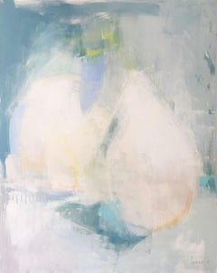 Quittin Time, Augusta Wilson Large Abstract Oil on Canvas Painting