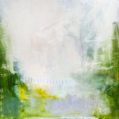Rendezvous in the Garden by Augusta Wilson Large Abstract Oil on Canvas Painting