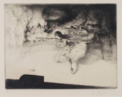 """Le Ballet,"" Etching and Drypoint Ballet Performance signed by Auguste Brouet"