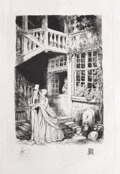 Passing - Original Etching - Early 20th Century