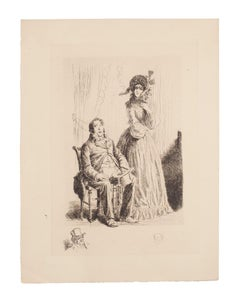 The Rich - Original Etching by Auguste Brouet - Early 20th Century