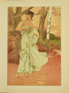 Artemis - Original Lithograph by A. Donnay - 1898