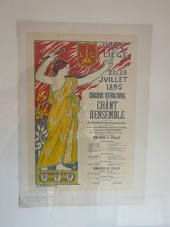 """Concours International de Chant, a Liege"" from Les Maitres de l'Affiche"