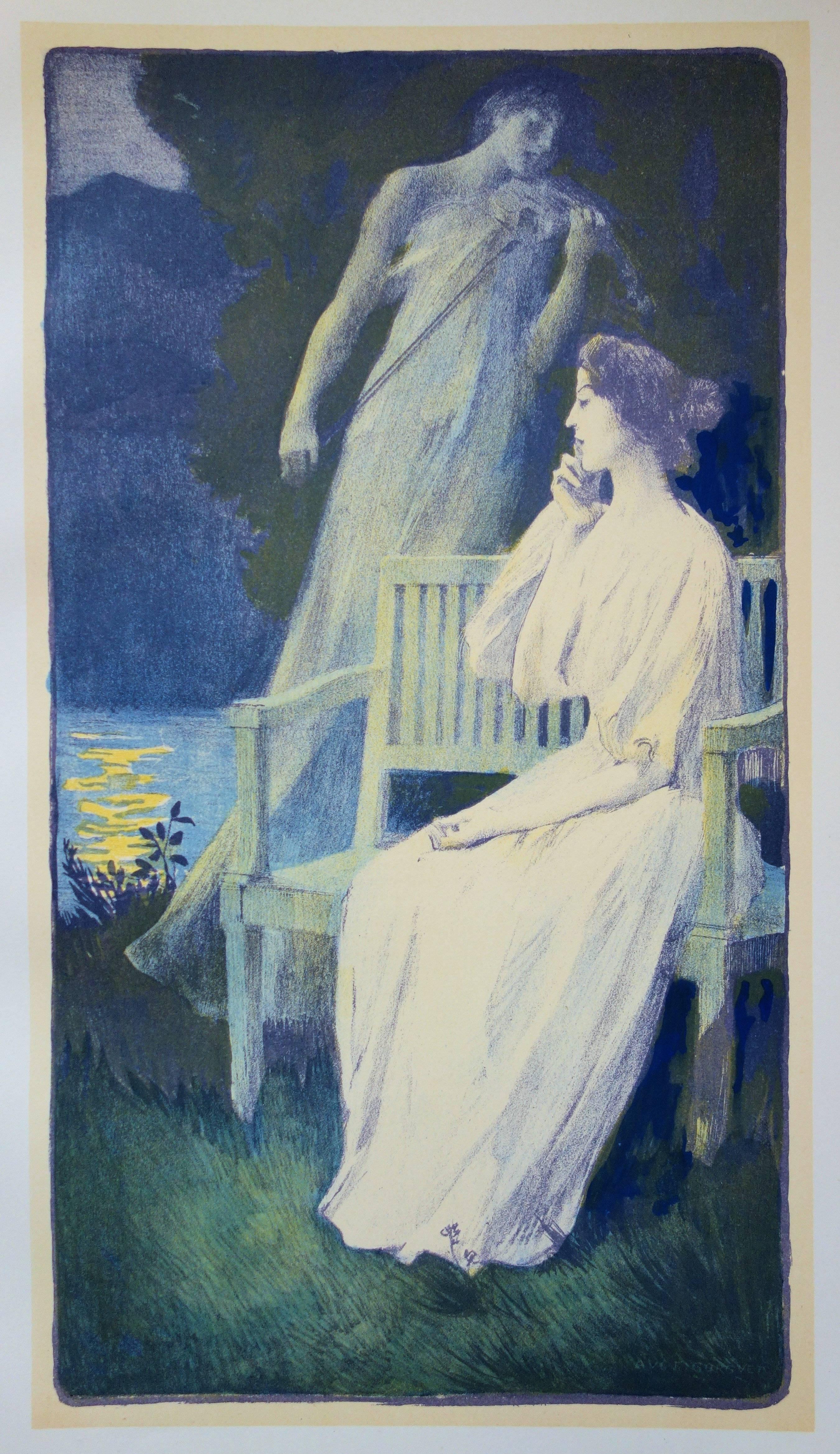 Night Andante - original lithograph (1897-1898)