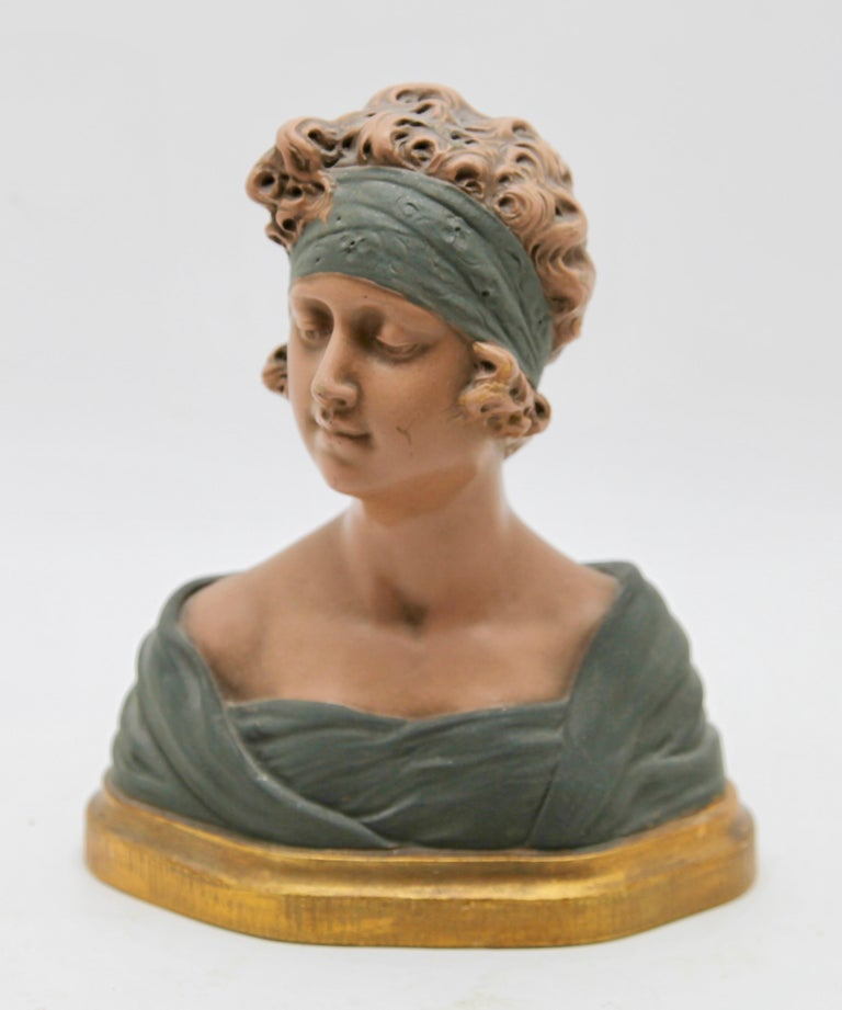 Belgian Auguste Henri Carli Bust in Terracotta, France, Belgium, Early 20th Century For Sale