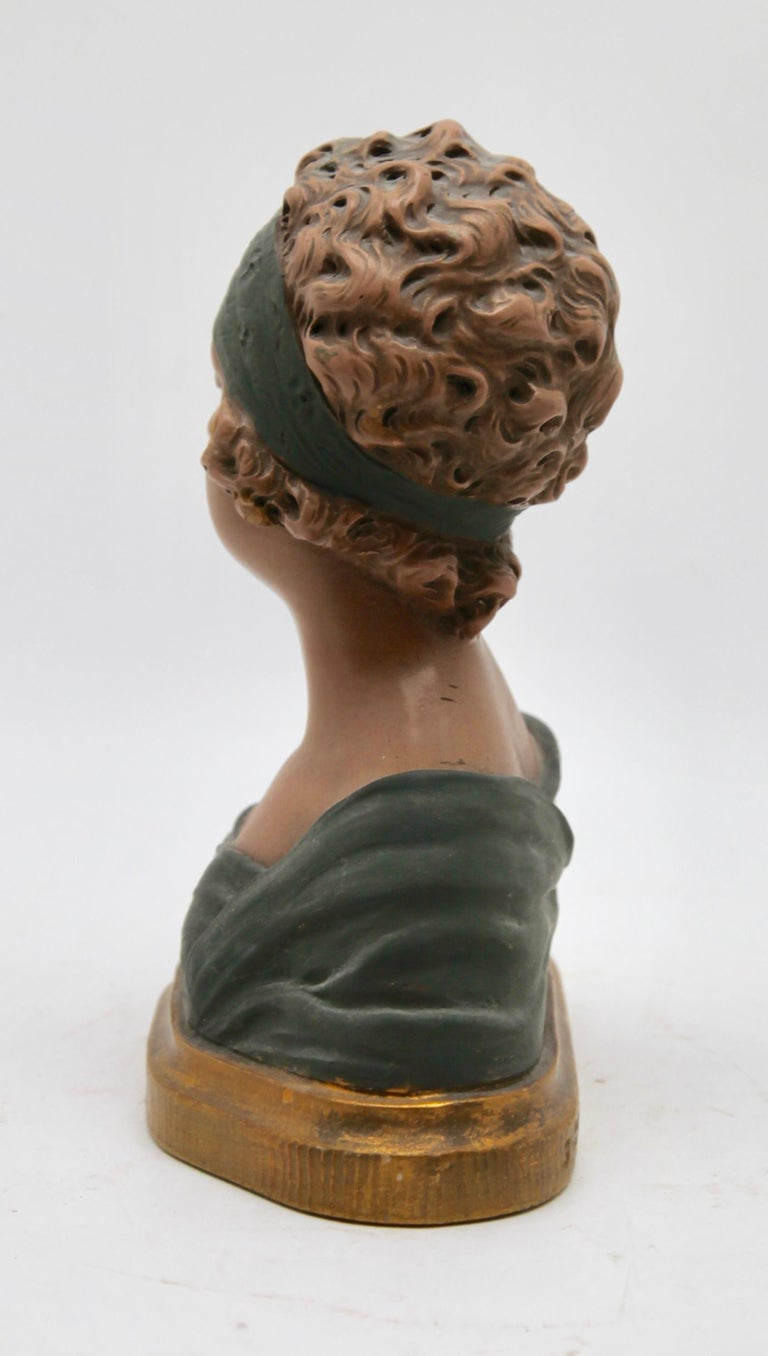 Auguste Henri Carli Bust in Terracotta, France, Belgium, Early 20th Century For Sale 1