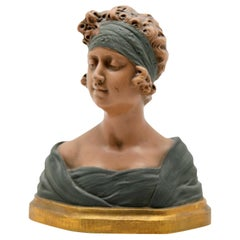 Auguste Henri Carli Bust in Terracotta, France, Belgium, Early 20th Century