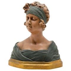 Auguste Henri Carli Bust in Terracotta, France, Belgium, Early 20th Century