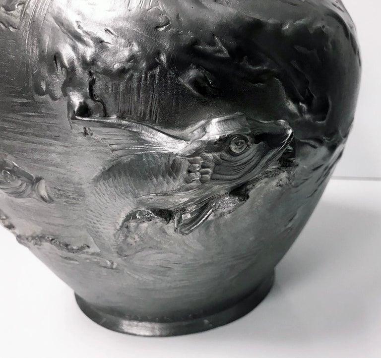 19th Century Auguste Ledru Art Nouveau Ewer Vase, circa 1895 For Sale