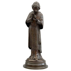 Auguste Louis Lalouette French Bronze Figure of a Young Sacristan