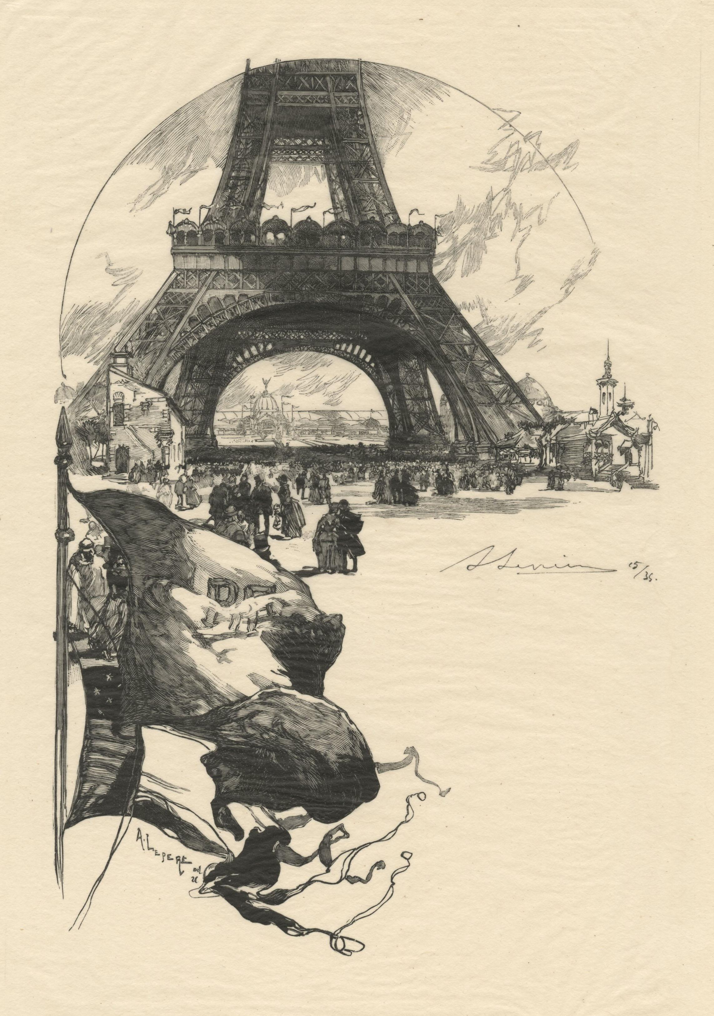 A l'Exposition Universelle: La Tour Eiffel