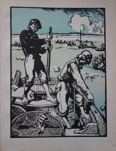 Fishermen - Original lithograph (1897/98)