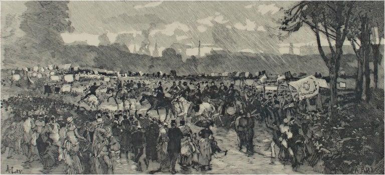 'Hyde Park' original woodcut engraving signed by Auguste Louis Lepère For Sale 2