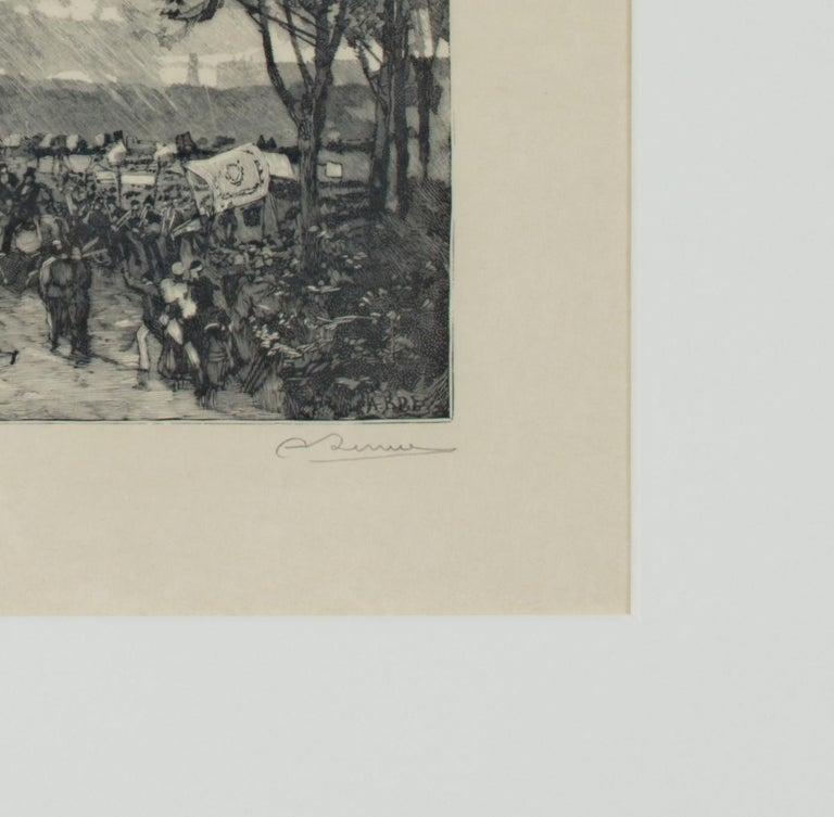 'Hyde Park' original woodcut engraving signed by Auguste Louis Lepère For Sale 3