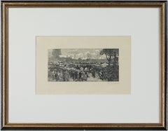 'Hyde Park' original woodcut engraving signed by Auguste Louis Lepère