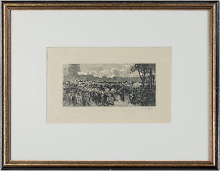 The present artwork is an excellent example of the woodcut engravings of Auguste-Louis Lepère (1849 - 1918). He was the son of the sculptor Francois Lepère, and is considered a leader in the creative revival of wood engraving in Europe. He
