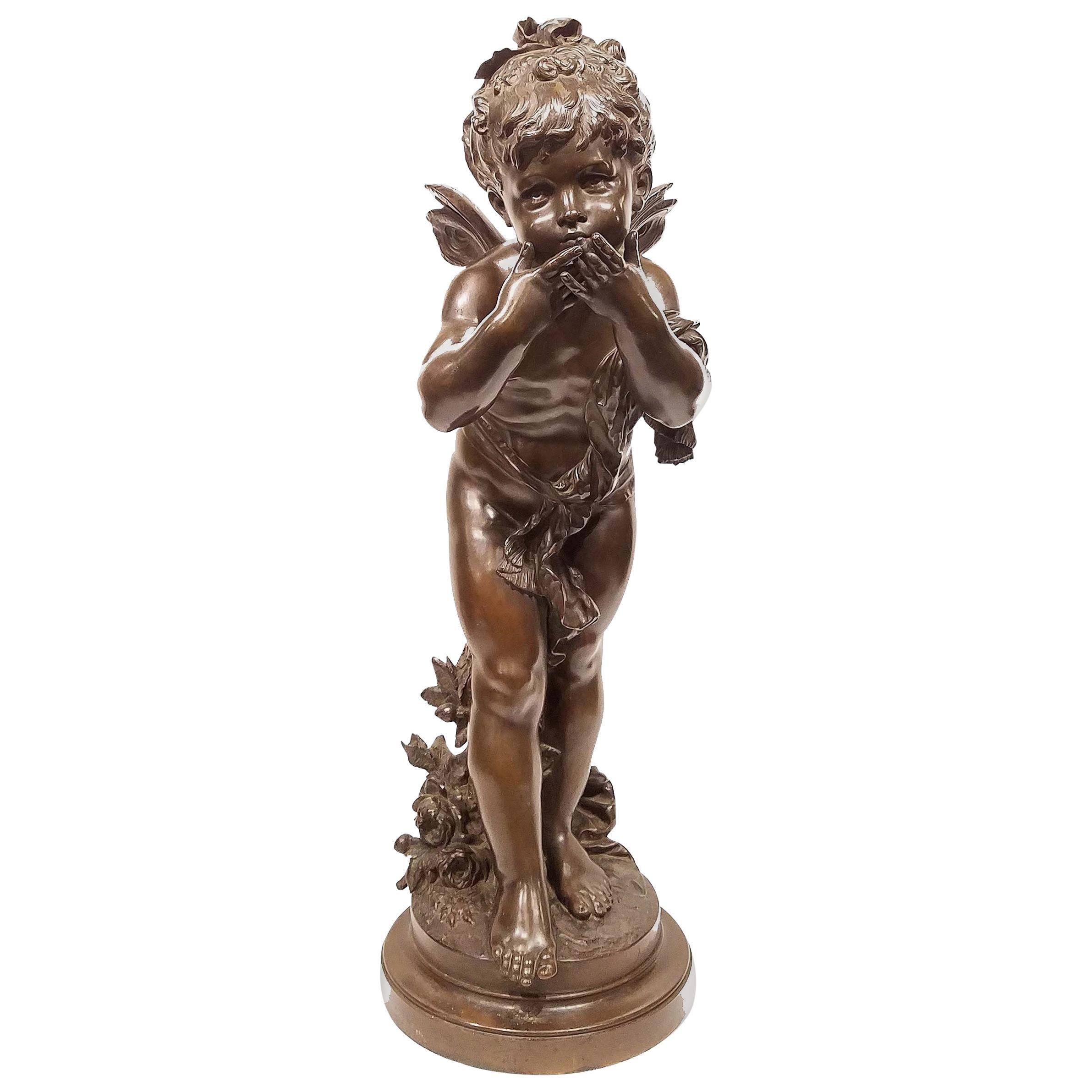 Auguste Moreau Bronze Sculpture, The Kiss