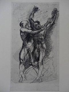 Dante & Virgilus - Etching, (Ed. Goupil, 1897)