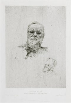 Victor Hugo - Original Etching by A. Rodin - 1889
