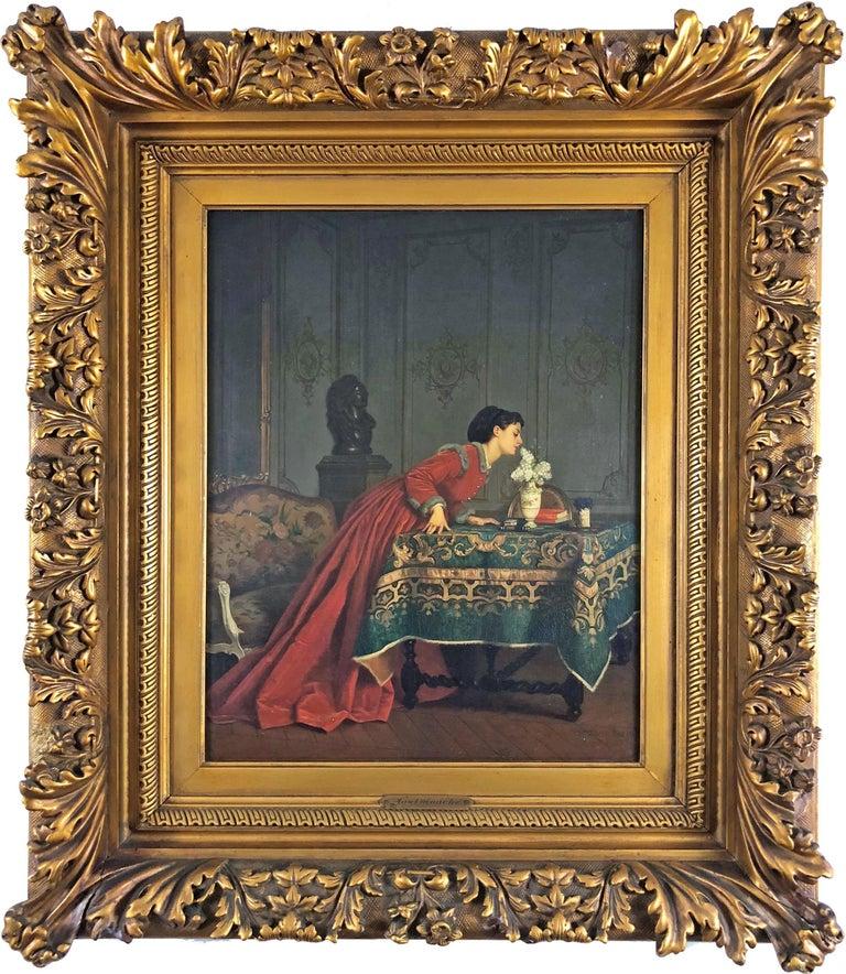 Auguste Toulmouche Figurative Painting - A Pleasant Scent