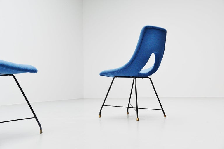 Mid-20th Century Augusto Bozzi Cosmos Dining Chairs 6 Saporiti, Italy, 1954 For Sale
