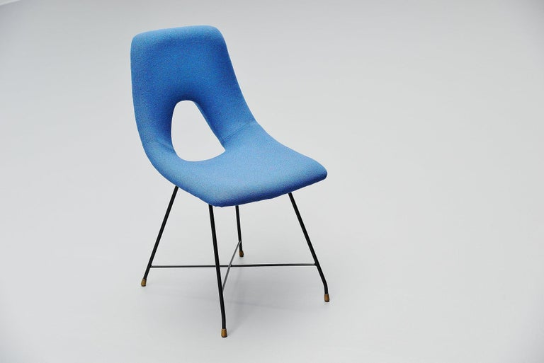 Augusto Bozzi Cosmos Dining Chairs 6 Saporiti, Italy, 1954 For Sale 2