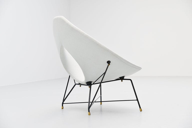 Cold-Painted Augusto Bozzi Cosmos Lounge Chair, Italy, 1954 For Sale