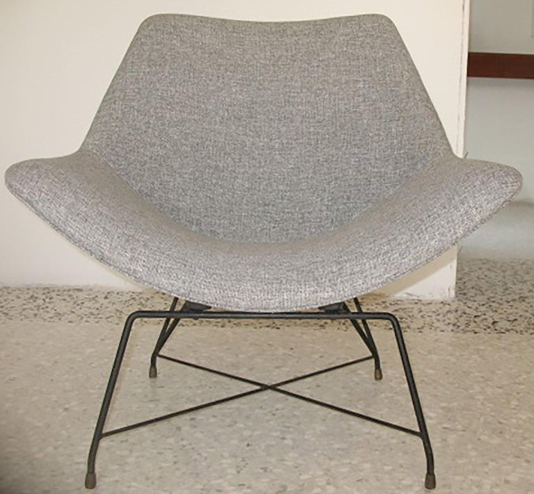 Mid-Century Modern Augusto Bozzi Couple of Armchair for Saporiti, Italy, 1950s For Sale