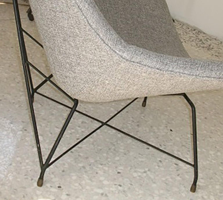 Mid-20th Century Augusto Bozzi Couple of Armchair for Saporiti, Italy, 1950s For Sale