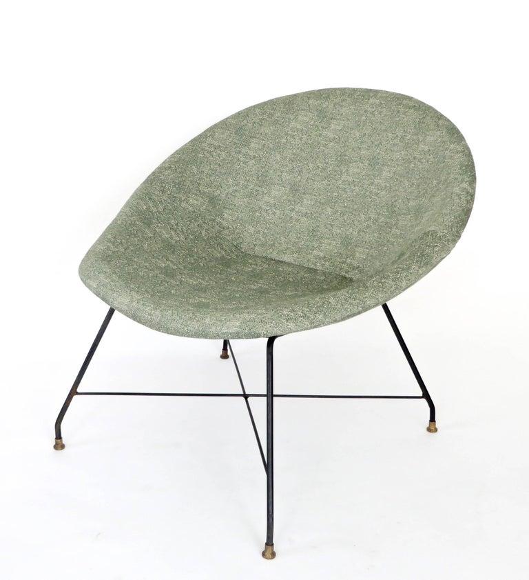 Augusto Bozzi for Saporiti Italia Pair of Italian Lounge Chairs  For Sale 5