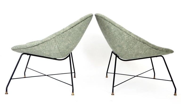 Augusto Bozzi for Saporiti Italia Pair of Italian Lounge Chairs  For Sale 6