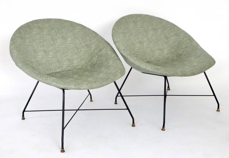 Augusto Bozzi for Saporiti Italia Pair of Italian Lounge Chairs  For Sale 8