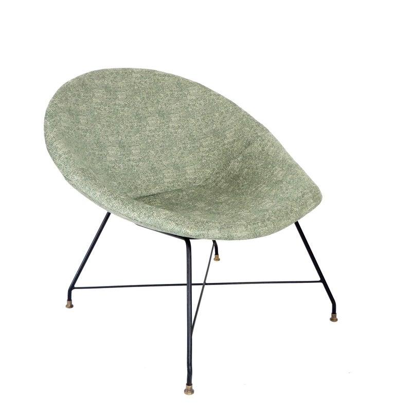 Mid-20th Century Augusto Bozzi for Saporiti Italia Pair of Italian Lounge Chairs  For Sale