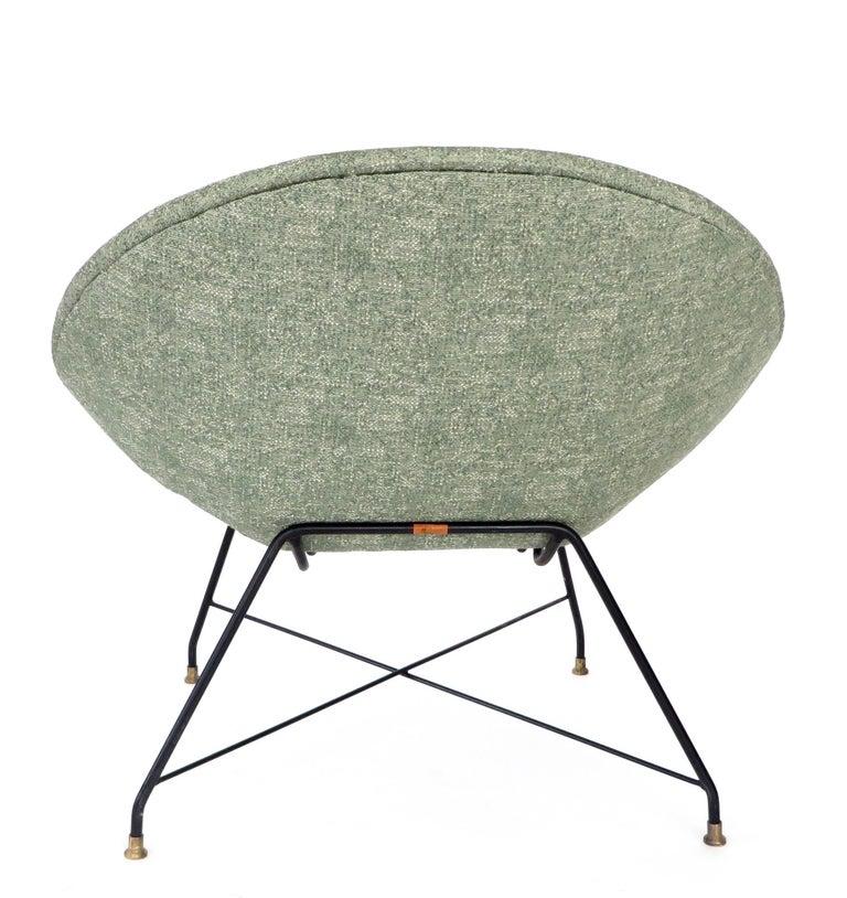 Augusto Bozzi for Saporiti Italia Pair of Italian Lounge Chairs  For Sale 2