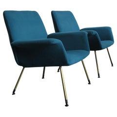 Augusto Bozzi Italian Midcentury Modern Armchairs for Saporiti Italia, 1960s