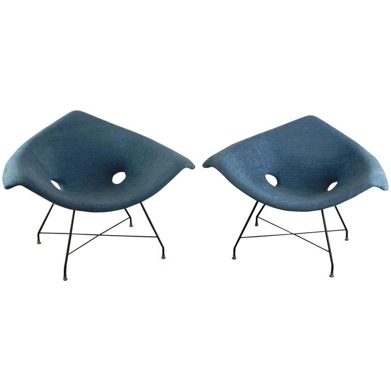 Augusto Bozzi Kosmos Chairs for Saporiti Italia For Sale
