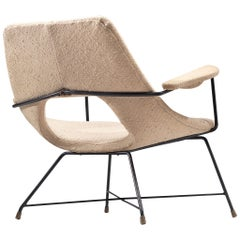 Augusto Bozzi Lounge Chair with Metal Frame