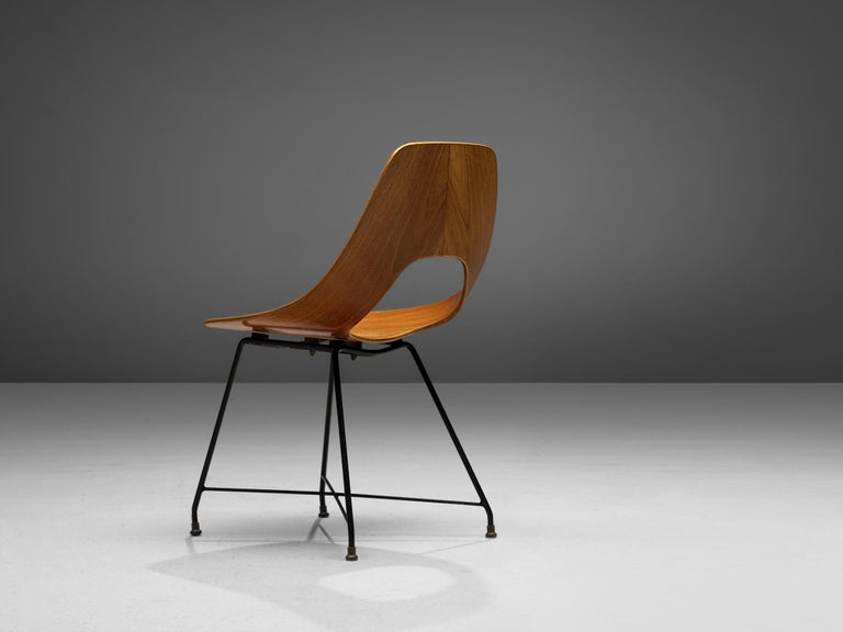 Mid-20th Century Augusto Bozzi Saporiti 'Ariston' Dining Chair in Teak For Sale