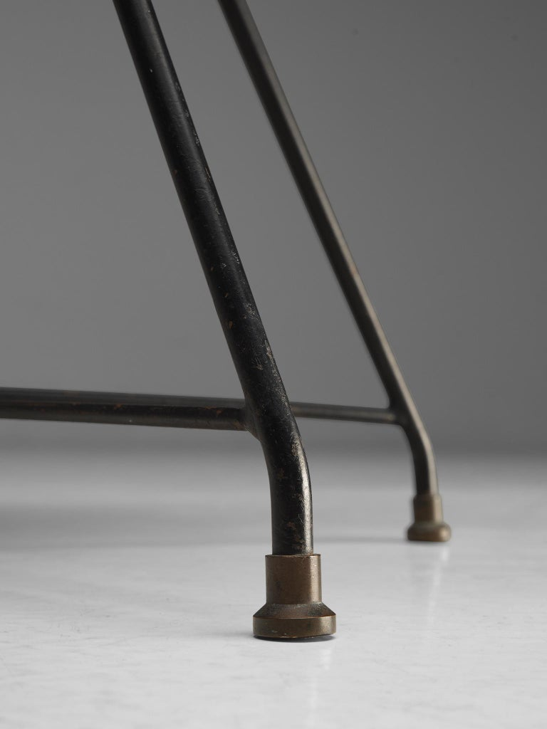 Metal Augusto Bozzi Saporiti 'Ariston' Dining Chair in Teak For Sale