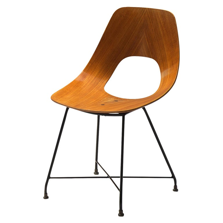 Augusto Bozzi Saporiti 'Ariston' Dining Chair in Teak For Sale