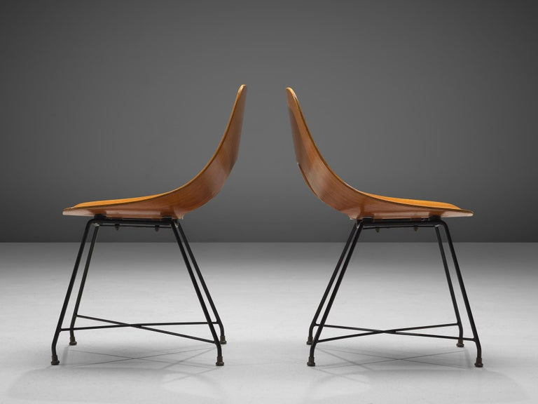Italian Augusto Bozzi Saporiti Set of 'Ariston' Dining Chairs in Teak For Sale