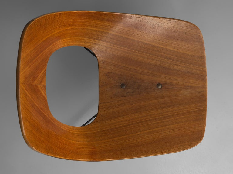 Metal Augusto Bozzi Saporiti Set of 'Ariston' Dining Chairs in Teak For Sale